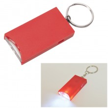 "Брелок ""And"" с подсветкой; красный, 2,8х5,2х0,9 см, пластик"