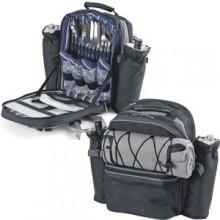 """Набор для пикника на 4 персоны """"ЭКСПЕДИЦИЯ"""" : рюкзак, термоотсек, 2 чехла для бутылок, плед, приборы"""