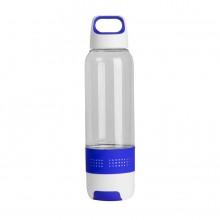 """Бутылка с полотенцем """"TRAINER"""", пластик, микрофибра, 500 мл., синий"""