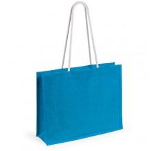 "Пляжная сумка ""Hint"", джут, размер 44,5*35*14 см.,синий"