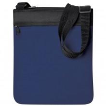 "Промо сумка на плечо ""Simple""; синий; 23х28 см; полиэстер; шелкография"