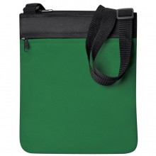 """Промо сумка на плечо """"Simple""""; зеленый; 23х28 см; полиэстер; шелкография"""