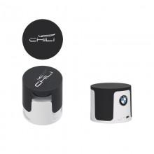 """Беспроводная Bluetooth колонка """"Echo"""", белый/черный прорезиненный"""
