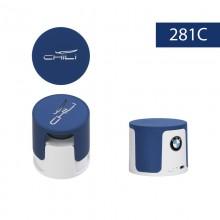 """Беспроводная Bluetooth колонка """"Echo"""", белый/темно-синий прорезиненный"""