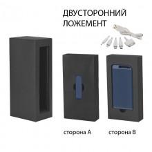 """Набор источник """"Theta"""" 4000 mAh + флеш-карта """"Case"""" 8Гб в футляре, прорезиненный темно-синий"""