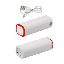 Источник энергии универсальный POWER+ ёмкостью 2600 mAh, белый/красный прозрачный
