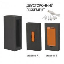 """Набор источник """"Theta"""" 4000 mAh + флеш-карта """"Case"""" 8Гб в футляре, прорезиненный оранжевый"""