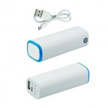 Источник энергии универсальный POWER+ ёмкостью 2600 mAh, белый/синий прозрачный