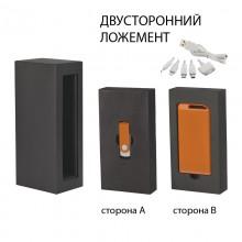 """Набор источник """"Theta"""" 4000 mAh + флеш-карта """"Vostok"""" 16Гб в футляре, прорезиненный оранжевый"""