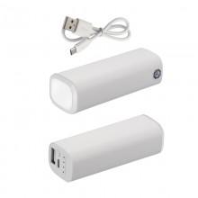 Источник энергии универсальный POWER+ ёмкостью 2600 mAh, белый/белый прозрачный