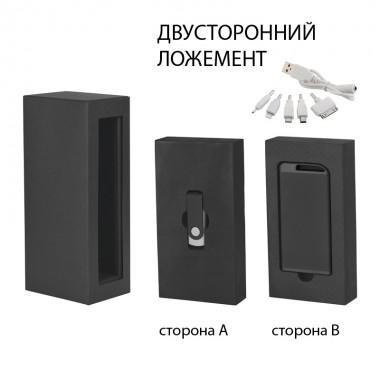 """Набор источник """"Theta"""" 4000 mAh + флеш-карта """"Vostok"""" 16Гб в футляре, прорезиненный черный"""
