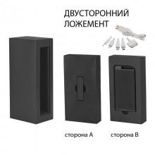 """Набор источник """"Theta"""" 4000 mAh + флеш-карта """"Case"""" 8Гб в футляре, прорезиненный черный"""