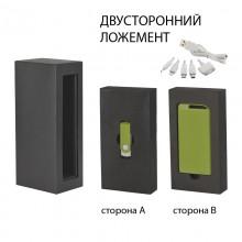 """Набор источник """"Theta"""" 4000 mAh + флеш-карта """"Vostok"""" 8Гб в футляре, прорезиненный зеленое яблоко"""