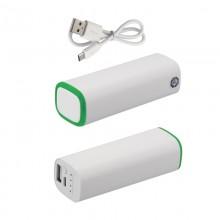 Источник энергии универсальный POWER+ ёмкостью 2600 mAh, белый/зелёный прозрачный