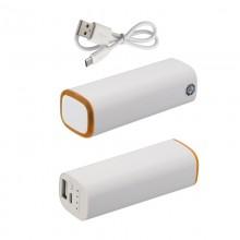 Источник энергии универсальный POWER+ ёмкостью 2600 mAh, белый/оранжевый прозрачный