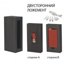 """Набор источник """"Theta"""" 4000 mAh + флеш-карта """"Vostok"""" 16Гб в футляре, прорезиненный красный"""