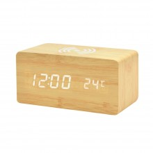 Многофункциональные часы - погодная станция с беспроводной зарядкой