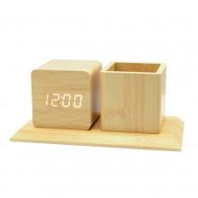Многофункциональные часы - погодная станция с карандашницей