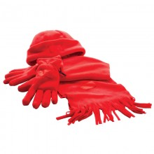 """Набор """"Зима"""" (шапка, шарф, перчатки), красный"""
