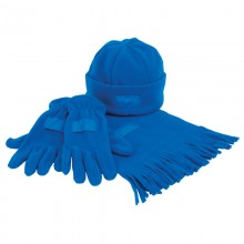 "Набор ""Зима"" (шапка, шарф, перчатки), синий"