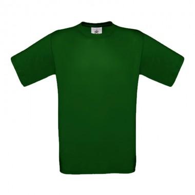 Футболка Exact 150, темно-зеленая/bottle green