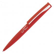 """Ручка шариковая """"Dial"""", красный/серебристый, прорезиненная поверхность"""