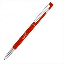 """Ручка шариковая """"Star"""", красный, прорезиненная поверхность"""