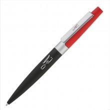 """Ручка шариковая """"Peri"""", черный/красный, прорезиненная поверхность"""