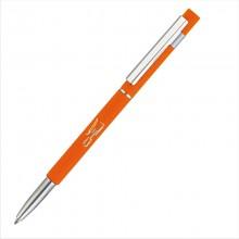 """Ручка шариковая """"Star"""", оранжевый, прорезиненная поверхность"""