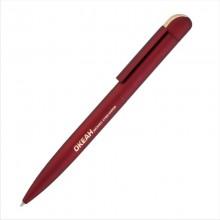 """Ручка шариковая """"Jupiter"""", бордовый/золото, прорезиненная поверхность"""