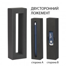 "Набор ручка ""Jupiter"" + флеш-карта ""Vostok"" 16 Гб в футляре, темно-синий"