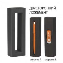 """Набор ручка """"Jupiter"""" + флеш-карта """"Vostok"""" 16 Гб в футляре, оранжевый"""
