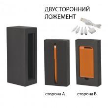 """Набор ручка """"Jupiter"""" + источник """"Theta"""" 4000 mAh в футляре, прорезиненный оранжевый"""