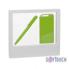 """Набор ручка """"Jupiter"""" + зарядник """"Theta"""" 4000 mAh в футляре, покрытие soft touch"""