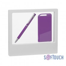 "Набор ручка ""Mars"" + зарядник ""Theta"" 4000 mAh в футляре, покрытие soft touch"