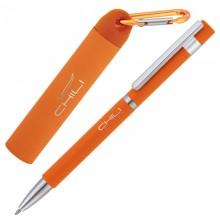 Набор ручка + источник энергии 2800 mAh в футляре, оранжевый