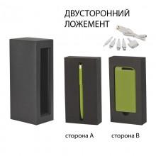 """Набор ручка """"Jupiter"""" + источник """"Theta"""" 4000 mAh в футляре, прорезиненный зеленое яблоко"""