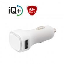 Автомобильное зарядное устройство TWINPOWER с 2-мя разъёмами USB, белый/белый прозрачный