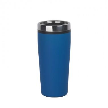 """Термостакан """"Европа"""" с прорезиненным покрытием, 0,4 л, синий"""