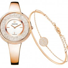 Комплект Crystalline: часы наручные, браслет