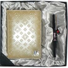Набор: ручка шариковая, обложка для паспорта