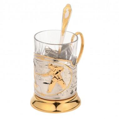 Набор «Металлург»: стакан с подстаканником и ложкой