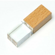 USB 2.0- флешка на 16 Гб прямоугольной формы, под гравировку 3D логотипа