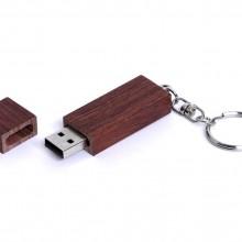 USB 2.0- флешка на 16 Гб прямоугольная форма, колпачок с магнитом