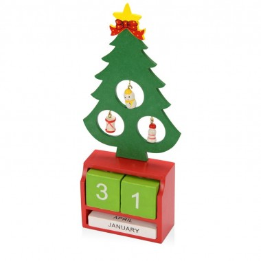 Декоративная елочка c календарем