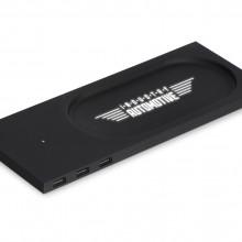 Беспроводное настольное зарядное устройство Glide с подсветкой, soft-touch